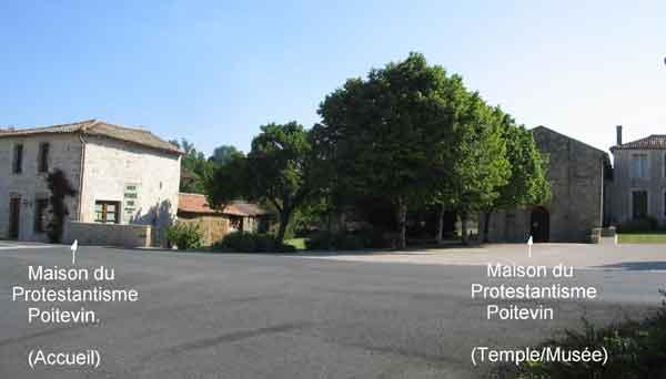 maison du Protestantisme Poitevin et ancien temple de Beaussais devenu musée