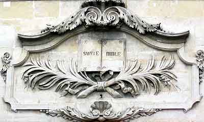 détail de la façade du Grand Temple de Nîmes